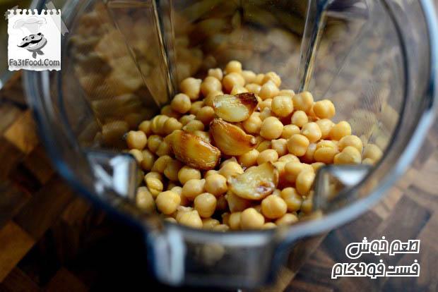 طرز تهیه حمص با زعتر | فست فود | آموزش آشپزی | دسر | تزیین غذا ...