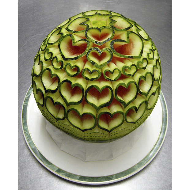 Carving-on-watermelons