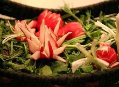 تزیین سبزی خوردن برای سفره