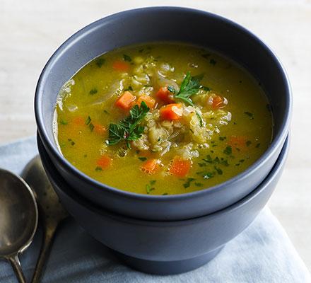 سوپ عدس قرمز و هویج