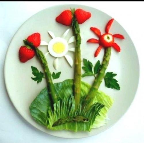تزیین بشقاب میوه و سبزیجات