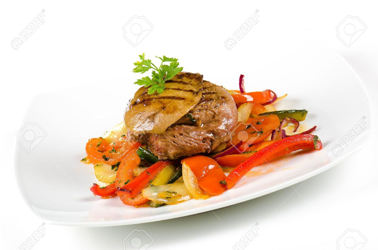 14879379-meat-and-pork-liver-with-sauteed-vegetables-Stock-Photo-paleo