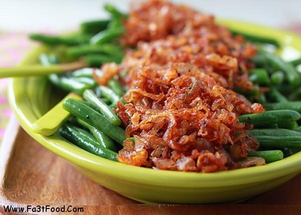 خوراک لوبیا سبز با گوشت