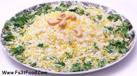 برنج با سس گشنیز و لیموی