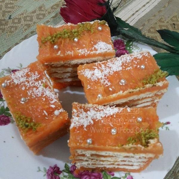 کیک یخچالی هویج