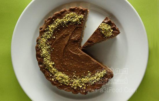 شیرینی شکلات پسته ای