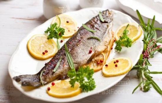 خوراک دریایی ماهی قزل آلا