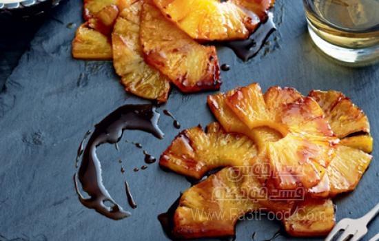 دسر آناناس کاراملی
