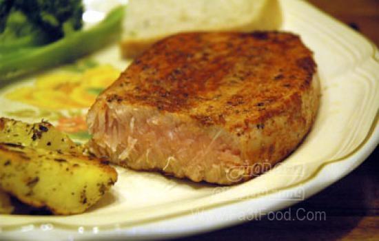 استیک ماهی با ادویه