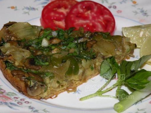پن کیک سبزیجات