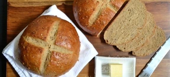 نان عسلی با تخم آفتابگردان