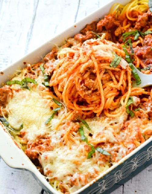 اسپاگتی با پنیر