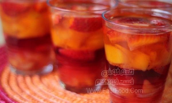 فنجان میوه و ژله