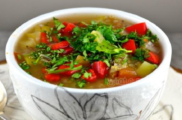 سوپ سبزیجات اکوادور لذیذ