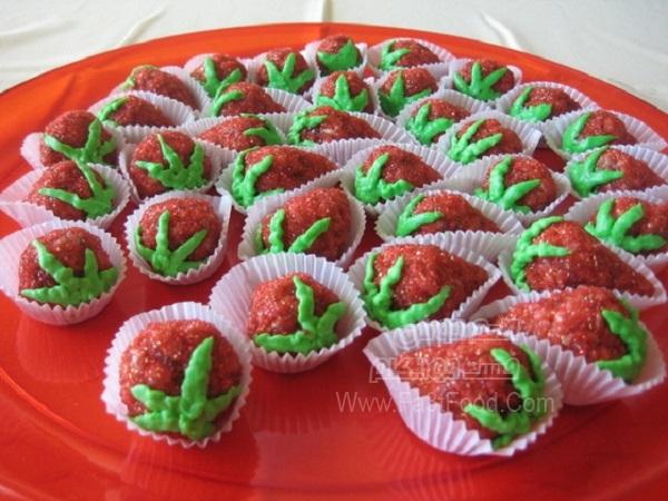 کوکی توت فرنگی لذیذ