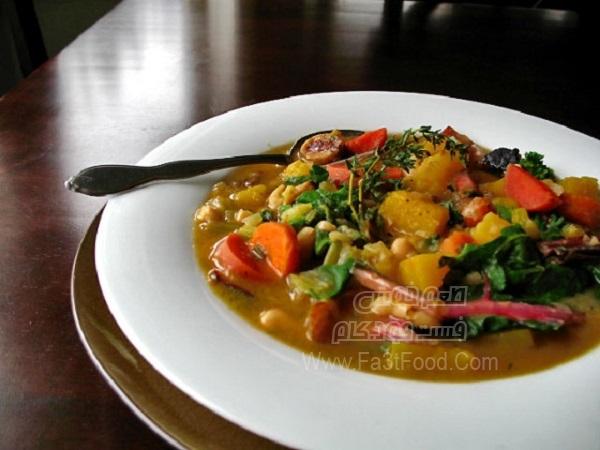 سوپ باقلا با گردوی سفید
