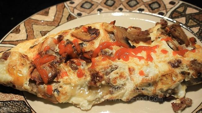 املت قارچ و سوسیس