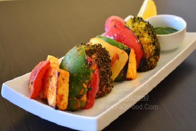شیشلیک با سبزیجات