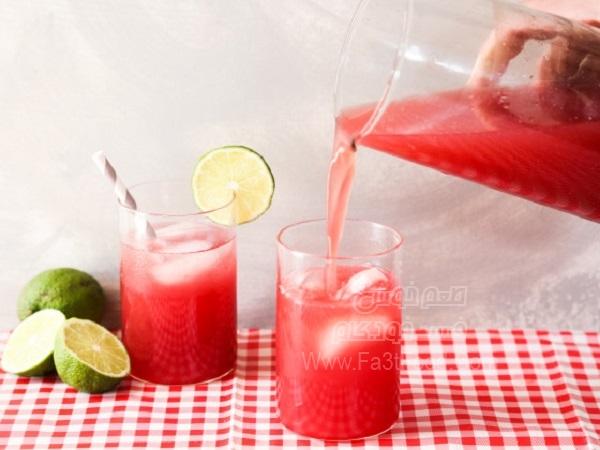 نوشیدنی رازبری و چای سرد