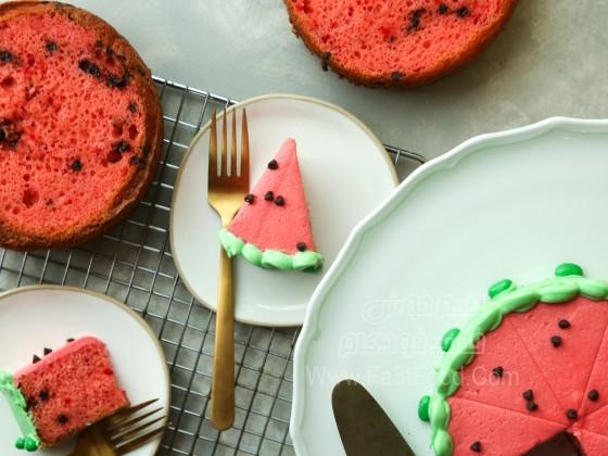 کیک هندوانه ای لذیذ
