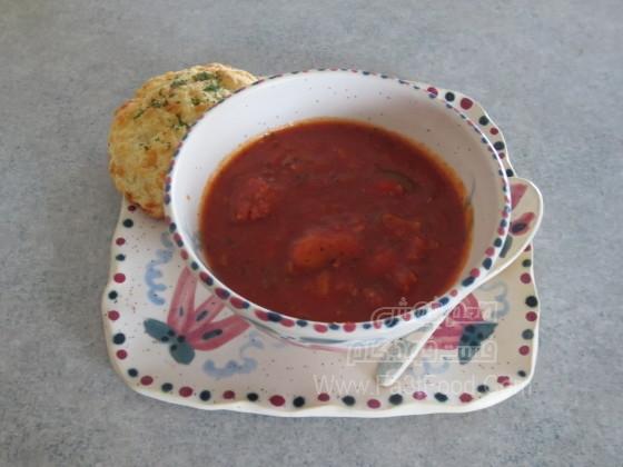 سوپ سوسیس و سبزیجات