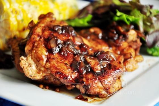 مرغ لذیذ با سرکه بالزامیک