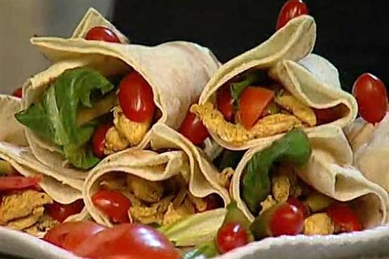 ساندویچ شاورمای مرغ