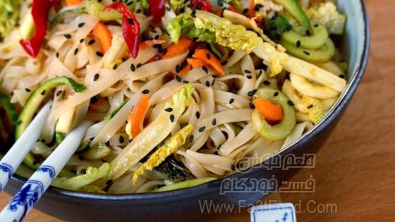 سالاد نودل و برنج تایلندی