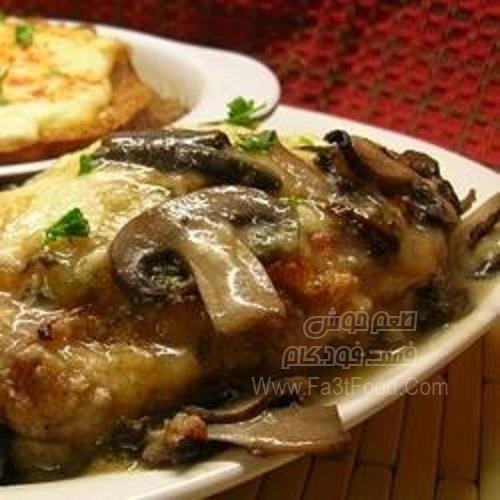 خوراک مرغ و قارچ لذیذ