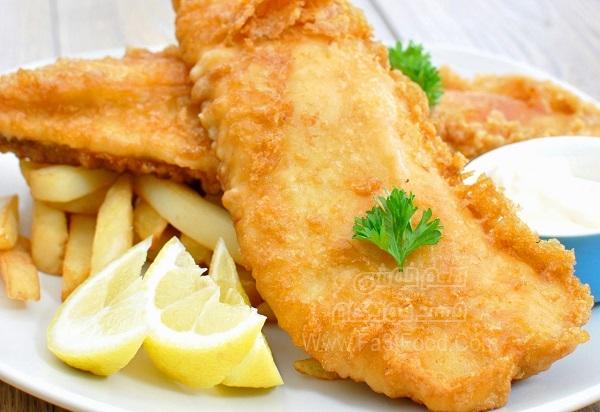 خوراک ماهی و چیپس بی نظیر