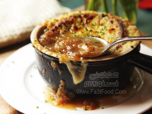 سوپ پیاز فرانسوی