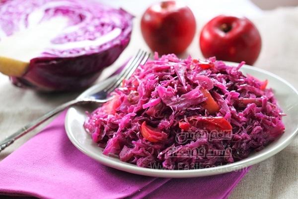 خوراک کلم قرمز سرخ شده