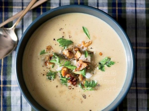 سوپ خامه و گردو
