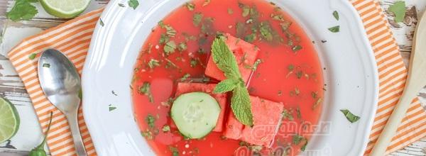 سوپ هندوانه تابستانی